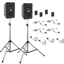 Anchor Go Getter Deluxe Air Package 4 GG2XU2 GG-AIR 2 SS-550 4 WB-Link BPs w/ 4 LP HS mics - Li-Ion