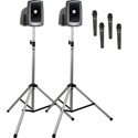Anchor MEGA-DP4-AIR MegaVox Deluxe AIR Package 4 - MEGA2-XU4/MEGA2-AIR/two SS-550 and 4 Wireless WH-LINK Handheld Mics