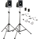 Anchor MegaVox Deluxe AIR Package 2 w/ MEGA2-XU2 MEGA2-AIR 2 SS-550 2 WB-LINK BPs w/ 2 Lapel & 2 HS mics - Li-Ion