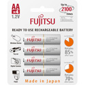 Fujitsu 1312-0013-FJ HR3UTC AA Low Self Discharge 2000 mAH Rechargeable Battery - 4 Pk Blister