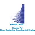 Apantac CC-License-Mi-16 UHD License for Close Captioning Decoding and Display - Software Download