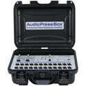 AudioPressBox APB-224-C Portable 2 Channel ActivePressbox with 2 Line/Mics Inputs & 24 Line/Mic Outputs in Carry Case