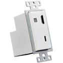 AVPro Edge AC-CXWP-USBC-T USB-C / HDMI Wall Plate Transmitter via HDBaseT - White