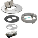 Arlington FLB6230NLLR Flip Lid Style Metal Cover Kit with Leveling Ring & 2 Flip Lids - Nickel