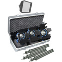 Arri LK.0005647 Softbank D2 Tungsten 3 Light Kit w/ Stands - Case - Wheels