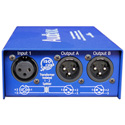 ARX IS-1 Audibox Iso Splitter Transformer Isolated 1 In 2 Out Splitter