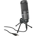 Audio-Technica AT2020USB-Plus Podcast/Voiceover Cardioid Condenser USB Studio Microphone