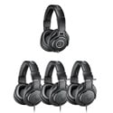 Audio-Technica ATH-PACK4 Professional Headphones Studio Pack - (1) ATH-M40x and (3) ATH-M20x