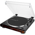 Audio-Technica AT-LP60X-BW Fully Automatic Belt-Drive Turntable - Brown/Black