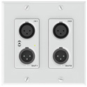Attero Tech unAX2IOplus 4x2 Ch 2 Gang US Wall Plate 2 Mic/Line In x2 Out (XLR) - Phoenix I/O - PoE - AES67