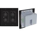 Attero Tech UNDX4I 4x2 Channel 2 Gang US Wall Plate with XLR Phoenix I/O PoE - Black