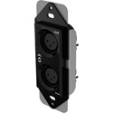 Attero Tech unXP2I 1-Gang Passive Wall Plate with 2 female XLRs & 3-gang Decora plate - White & Black Inserts
