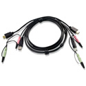 ATEN 2L-7D02UH 1 USB HDMI KVM Cable with Audio - 5.9 Foot (1.8m)