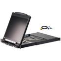 Aten CL5816NCKIT 16-Port 19 Inch LCD KVM Kit with 16-USB/PS2 Combo KVM Cable