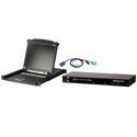 ATEN CLCS1308MUKIT Includes CL1000M 17-Inch LCD Integrated Console - CS1308 8-Port KVM Switch - 8 USB KVM Cables