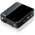 ATEN CS782DP 2-Port UHD 4K DP Port KVM with 2 Cables