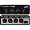 ATI UB400B 4-Ch Unbalanced RCA to Balanced XLR Converter