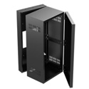 Atlas 324-15 19 inch Wide Opening Stand-Alone Wall Cabinet with Adjustable Rails - 15 inch D Center Section - 24 RU