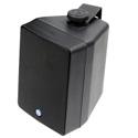 Atlas SM42T-B 4 inch 2-Way Weather Resistant Speaker System With 70.7V/100V-16W Transformer - Pair- Black