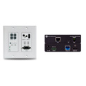 Atlona 4K-HDVS-WP-EXT 4K/UHD HDBaseT TX/RX Kit with Two-Input Wall Plate Switcher Ethernet Control and PoE