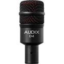 Audix D4 Hypercardioid Dynamic Drum and Instrument Mic - 40Hz-18kHz