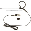 Audix HT7B3PIN Single Ear Headworn Microphone with 3-Pin Mini XLR Screw-On Connector - for Wired Use - Black