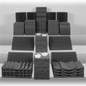 Auralex D108LCHA Roominator-DST Kit Charcoal (54) DST-112 Panels - Charcoal