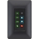 Aurora DXB-8i-B 8-Button Single Gang Backlit Panel - Black
