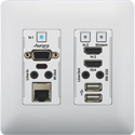 Aurora VLX-TCW2V-C 4K IP Audio/Video Distribution Wall Plate - White
