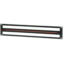 AVP AV-D232E2-AMN75-BZ 2 RU HDTV Midsize Patch Panel 32 AVP-AM75 Normaled Terminating Front-Mount Jacks No Cable Bar