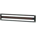 AVP AV-D232E2-AMN75-BZ 2 RU HDTV Midsize Patch Panel 32 AVP-AM75 Normaled Terminating Front-Mount Jacks No Cable Bar