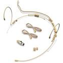 Avlex HS-02ABG 4.6mm Omni Mini Condenser Dual-Ear Hook Headworn Mic w/ Standard-Grade Element/ Mipro Mini-XLR - Beige
