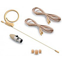 Photo of Avlex HSP-49BG Omni-Directional Miniature Condenser Single-Ear Headset Microphone - Premium Element & Mini-XLR - Beige
