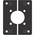 AVP MB8SP-RM04 Modular Bulkhead Adapter Plate for Canare Triax CCM7-PFRC/CCM5-PFRC/CCF4-JKR/CCM4-PKR