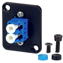 AVP UMF-SMD-LC-BL Maxxum LC Singlemode Duplex Fiber Optic Panel Mount Feedthru Blue Adapter Plate(s)