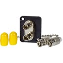 AVP UMF-SMD-ST-DC Maxxum ST Singlemode Duplex Fiber Optic Mount Feedthru - Adapter Plate(s) &/or Hardware MIS Color-Code