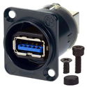 AVP UMNAUSB3-B Maxxum Reversible USB 3.0 Type-A-B Video Patch Panel D - Series Mount