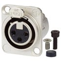 AVP UMNC3FD-L-1 Maxxum Neutrik NC3FD-L-1 3 Pole Fem Nickel/Silver Adapter Plate(s) and/or Hardware MIS Color-Code
