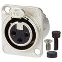 AVP UMNC3FD-L-1 Maxxum Neutrik NC3FD-L-1 3 Pole Fem Nickel/Silver Adapter Plate(s) and/or Hardware MIS Color-Code