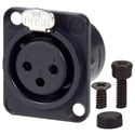 AVP UMNC3FD-L-B-1 Maxxum Neutrik NC3FD-L-B-1 3 Pole Fem Black/Gold Adapter Plate(s) and/or Hardware MIS Color-Code