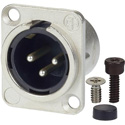 AVP UMNC3MD-L-1 Maxxum Neutrik NC3FD-L-1 3 Pole Male Nickel/Silver Adapter Plate(s) and/or Hardware MIS Color-Code
