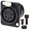 AVP UMNC5FD-L-B-1 Maxxum Neutrik NC3FD-L-B-1 5 Pole Fem Black/Gold Adapter Plate(s) and/or Hardware MIS Color-Code