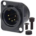 AVP UMNC5MD-L-B-1 Maxxum Neutrik NC5FD-L-B-1 5 Pole Male Black/Gold Adapter Plate(s) and/or Hardware MIS Color-Code