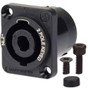 AVP UMNL2MP Maxxum 2 Pole SpeakON Chassis Connector Black Adapter Plate(s) and/or Hardware MIS Color-Code