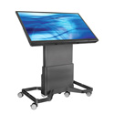 Avteq D-TPC-S DynamiQ Touch Panel Cart - Supports up to 155 lbs for Displays from 40 - 55 Inch