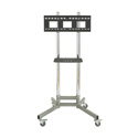 Avteq RPS-200 Adjustable-Height Chromed Rolling Cart - Accommodates Displays 32 - 55 Inch