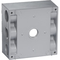 Greenfield B232PS 2 Gang Weatherproof Electrical Outlet Box - Gray