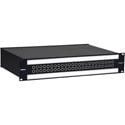 Bittree B48DC-NNPIT/E3 M2OU12L 2 RU Black 2x24 Mono Spaced Patch Panel with 2 Designation Strips - 12 Inch Chassis