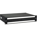 Bittree B96DC-HNAIT/ID M2OU12B 2RU 2x48 Stereo TT Bantam Patchbay - Front Selectable TRS Audio - 12in Chassis - Black