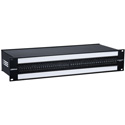 Bittree B96DC-FNAIT/E3 M2OU7B 2RU 2x48 Mono Spaced Audio Patch Panel with 2 Over/Under Type Designation Strips - Black